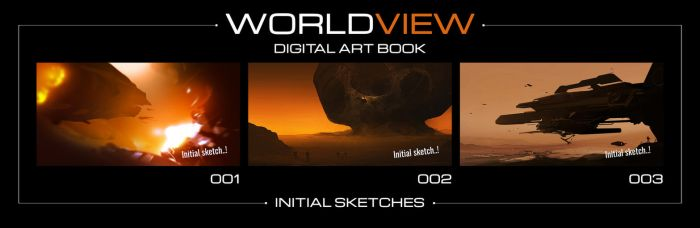 Worldview - 3 Initial Sketches by JamesLedgerConcepts