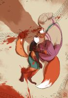 Little Fox finds her brother by Elisa2B