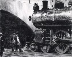 Hopper Pen and Ink by PRR8157
