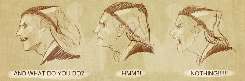 Cicero Face Drawings by mbrisa