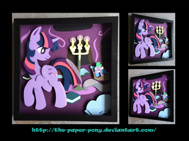 Shadowbox: Twilight's Library by The-Paper-Pony