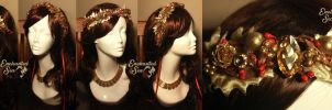 Golden Holly Winter Crown by enchantedsea