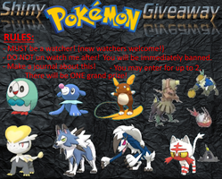 Shiny Pokemon Giveaway!! {CLOSED See rules}