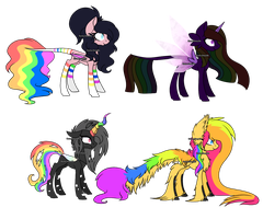 Rainbow Breedable Result Ponies .:CLOSED:. by Gaster-Story