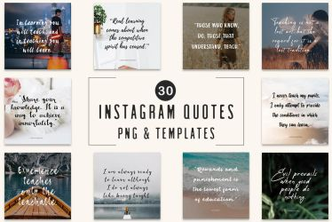 30 Free Instagram Quotes Templates by symufa