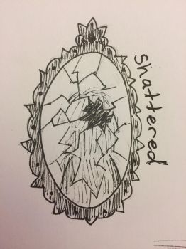 Inktober Day 12: Shattered by Panolli