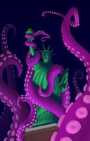 Statue of Kraken Liberty by lukeradl