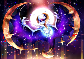 Lunala: Shine of the Moon - Pokemon by Invidiata