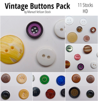 Vintage buttons Pack - 11 Stocks (30 buttons) by manuelvelizan