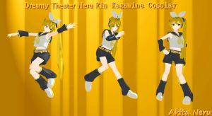 MMD Dreamy Theater Neru [Rin Cosplay]+Download by AkitaNeruxX