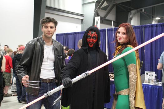 Wolverine, Darth Maul, and Dark Phoenix by VoiceofSupergirl