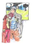 Cable And Reachel summers by coolmonkeyd