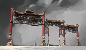 Floating Temple props - the Gates by AnDary