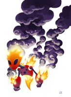 Elemental Fire Creature by Hominids