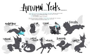 Autumn YCH's (CLOSED) by sordid-dessert