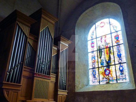 Organ and Stained Glass by TheLittle1