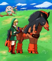 Link and Mudsdale