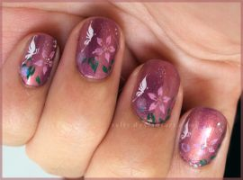 Enchanted Butterfly Nail Art by Talty