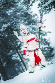 Cosplay Snow Bunny Nidalee - League of Legends by TineMarieRiis