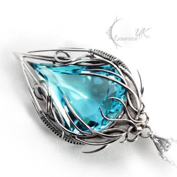 EDYCTRIS - silver and topaz by LUNARIEEN