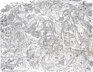 Heavily detailed theme park by dvn225