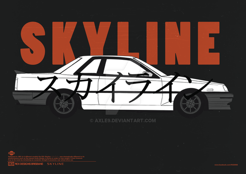 Nissan Skyline R30 Coupe Poster by Axle9