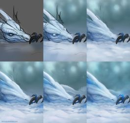 Ice Dragon - Steps by dschunai