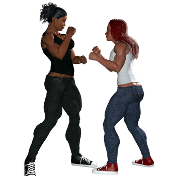 Selene  facing off with Donna By Firehonest by Seleneboxer