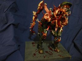 Master Chief Necromorph Sculpture by luckless1990