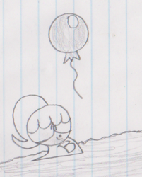 Boopie encounters a balloon by Waltman13