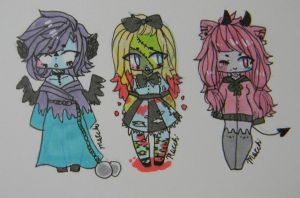 Creepy-cute butts //CLOSED// by Ball00n-Cafe