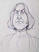 Alan Rickman as Snape by gilll