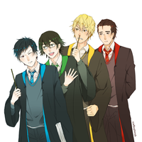 hogwarts au by scarfboyfriends