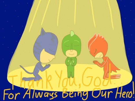 PJ Masks Pray by Cmanuel1