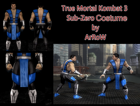 Sub Zero MK3 Costume V.5 for MKKE PC by ArRoW-4-U