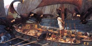 Odysseus and the Sirens by melfranz