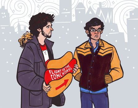 Flight of the Conchords by Grrrenadine