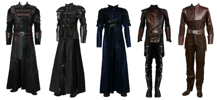 OC male Wraith costumes by utan77