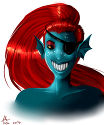 Undyne by Hush-Dont-Breath