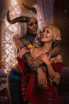 Adaar and Sera by arienai-ten