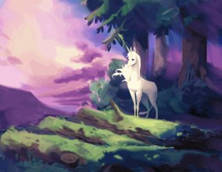 The last unicorn by MagdaPROski