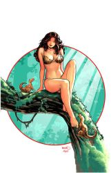 Cavewoman Jungle Jam1 pinup by PaulRenaud