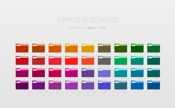 Simple Elegance: New Colors [+16x16px Lineart] by Maileanis