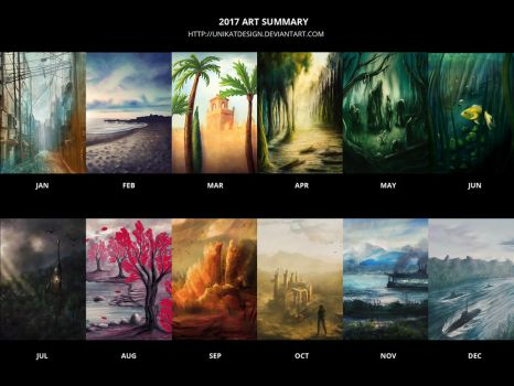 My Art Summary 2017 by unikatdesign