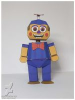 five nights at freddy's 2 JJ papercraft by Adogopaper