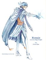 Gift -Romain as a Ice-Mage-Knight- by Halouette