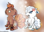 Differences (Vulpix and Alolan Vulpix) by KamanderKato