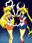 Sailor Scouts Moon and Venus by Kurumi-Lover