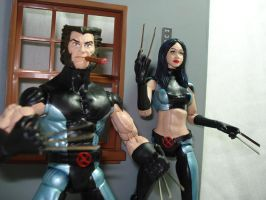 x-23 and wolverine x-force by hunterknightcustoms