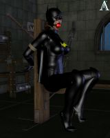 Batgirl down in the dungeon by MndlessEntertainment
